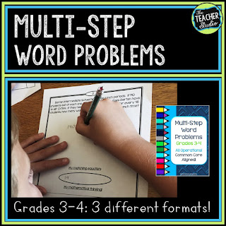 Providing students with great problem solving experiences is so important.  Check out this problem solving lesson that taught me so much about how my students understood this multi step problem.    Word problems, third grade math, fourth grade math, problem solving activities, problem solving printables