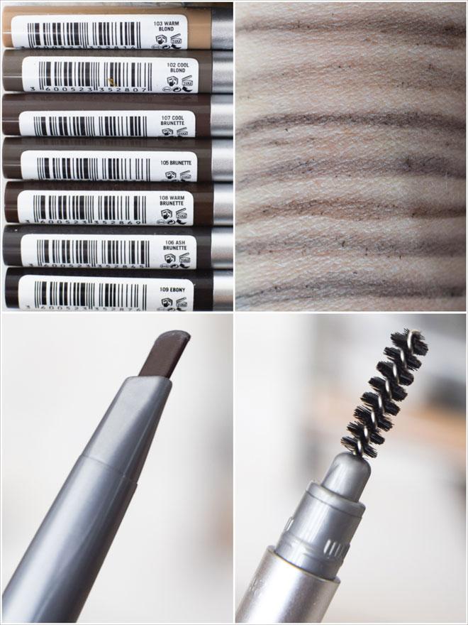 Spitze und Swatches der L'Oréal Paris Brow Artist Xpert Stifte