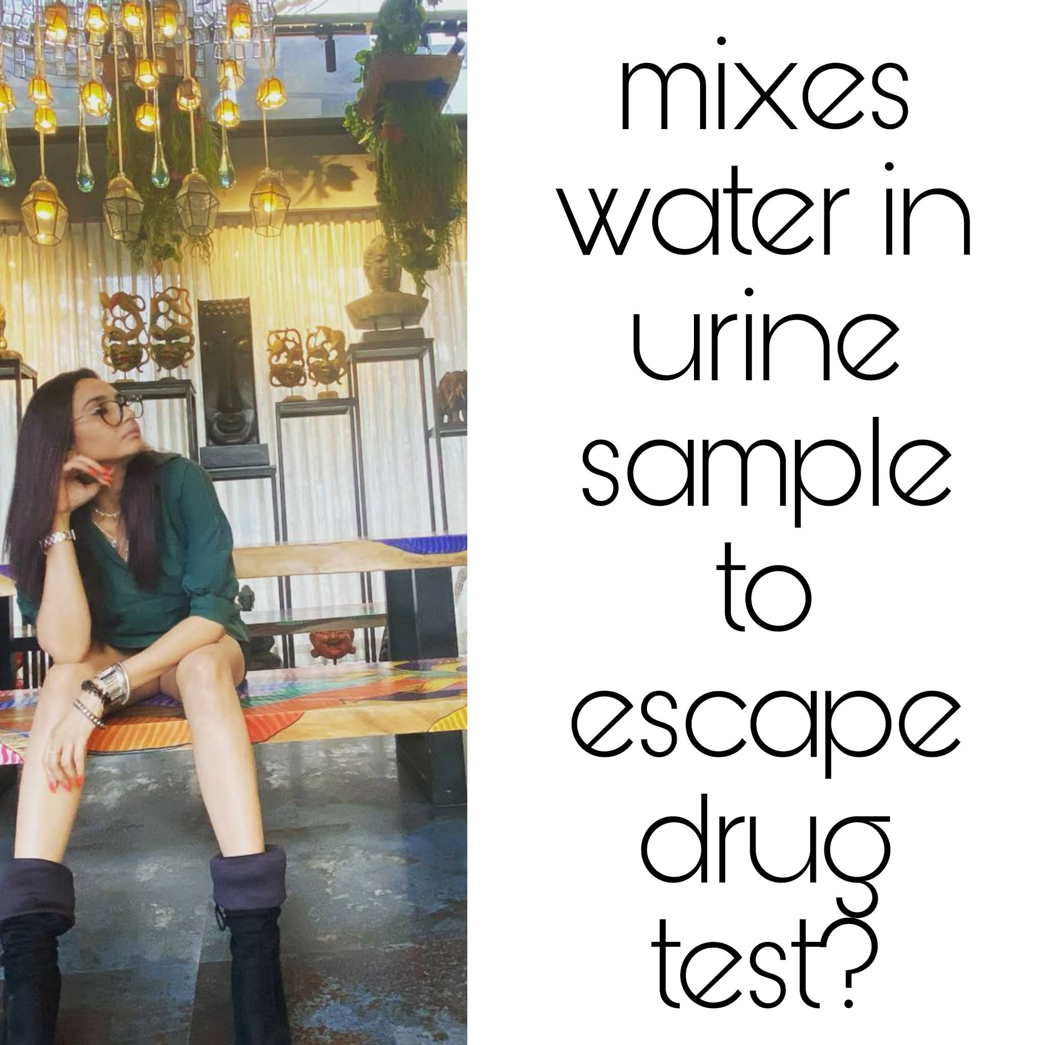 Kannada actress mixes water in urine sample to escape drug test