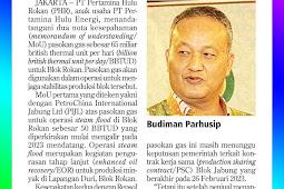 Maintain Production of Rokan Block Pertamina Agrees on 65 BBTUD Gas Supply