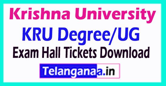 Krishna University KRU Degree/Ug Exam Hall Tickets Download
