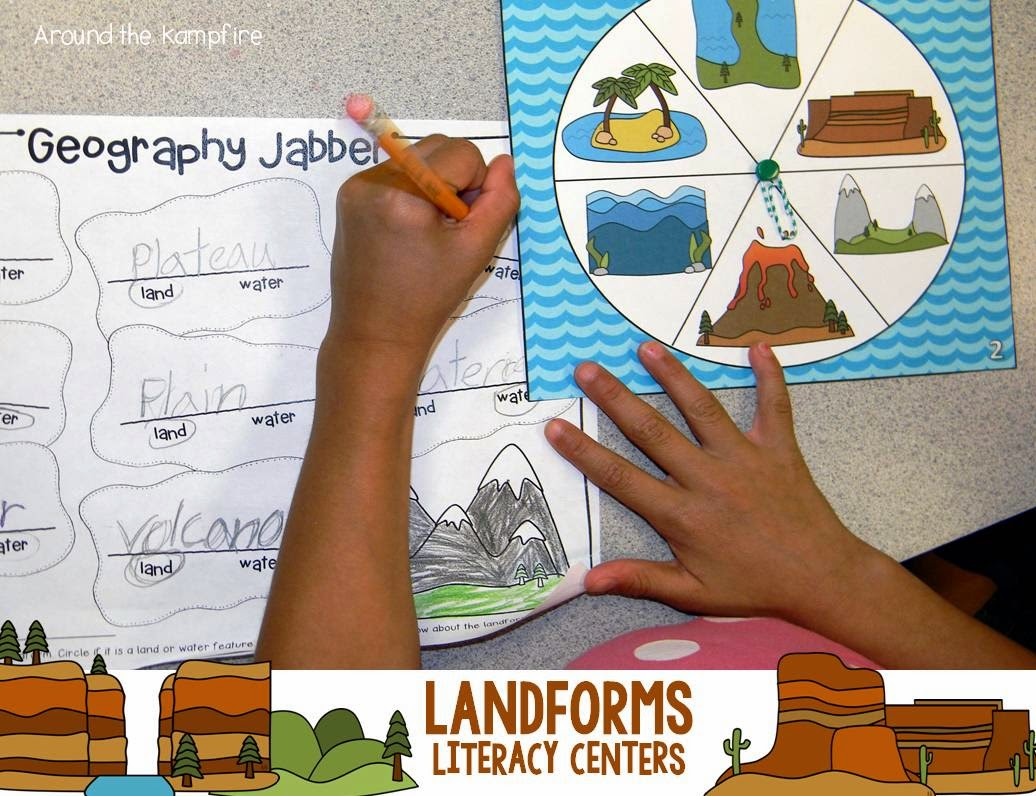 Landforms literacy centers
