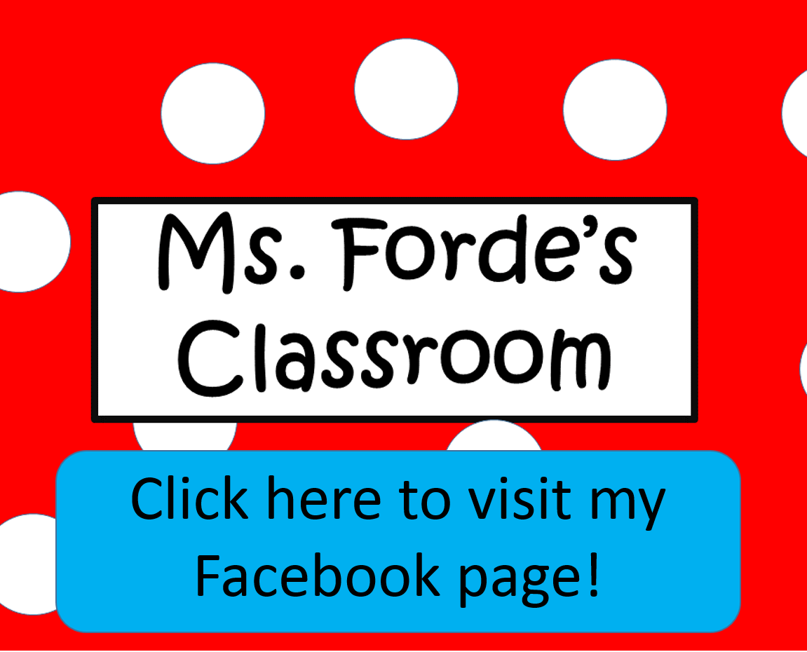 Ms  Forde's Classroom: First Day Back to School Activities