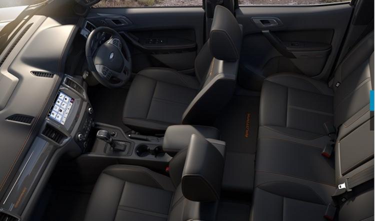 ford ranger wildtrak interior design
