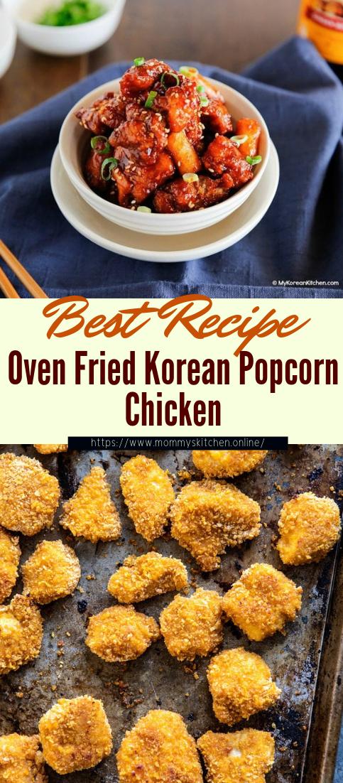 Oven Fried Korean Popcorn Chicken #dinnerrecipe #food #amazingrecipe #easyrecipe