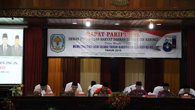 Bupati Adirozal dan Wabup Ami Taher Hadiri Sidang Paripurna DPRD Kerinci