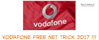 Vodafone free internet tricks 2017