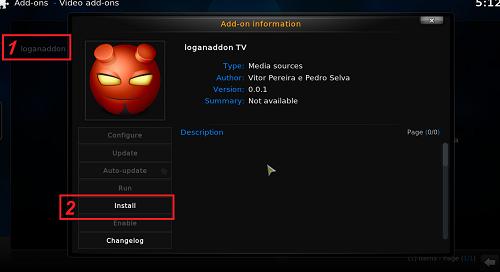 إضافة loganaddon tv لمشاهدة أفضل القنوات المشفرة على برنامج kodi xbmc