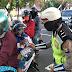Satlantas Polres Lumajang Lakukan Sosialisasi Penerapan Marka Traffic Distancing