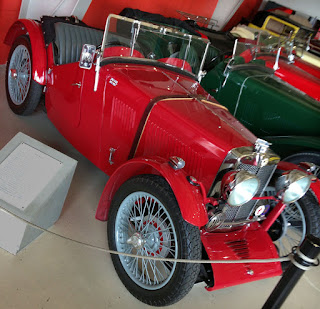 1931 MG J2 on display in museum.