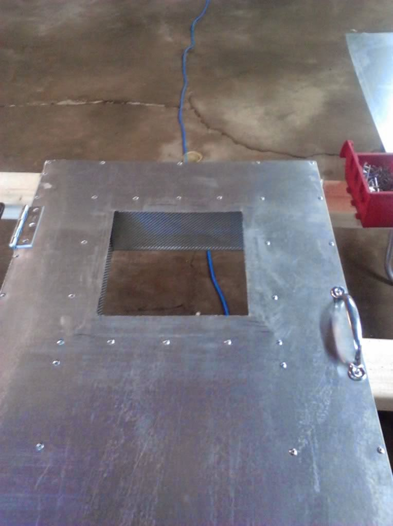 powder coating oven build window