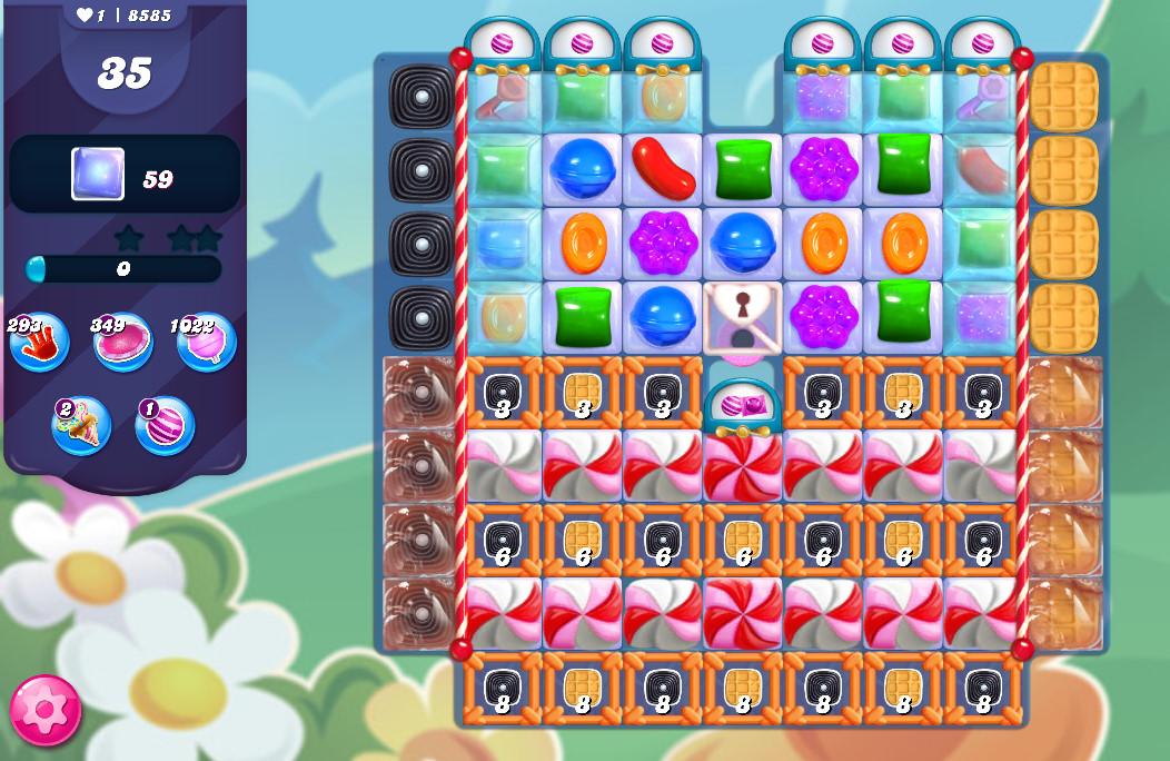 Candy Crush Saga level 8585