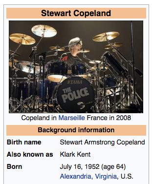 Stewart Copeland Drums