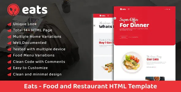 Best Food and Restaurant Template