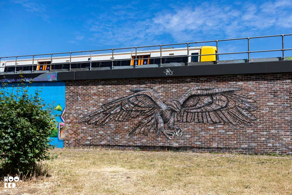 Jaw-Dropping London Street Art Eagle Mural