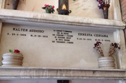 Audisio's tomb at the Cimitero Comunale Monumentale Campo Verano in Rome