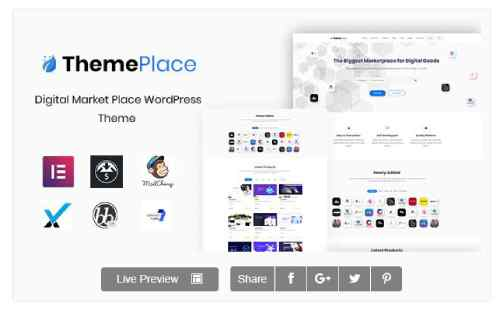 Download ThemePlace v1.1.0 - Marketplace Digital WordPress Theme
