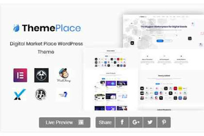 Download ThemePlace v1.1.0 - Marketplace Digital WordPress Theme