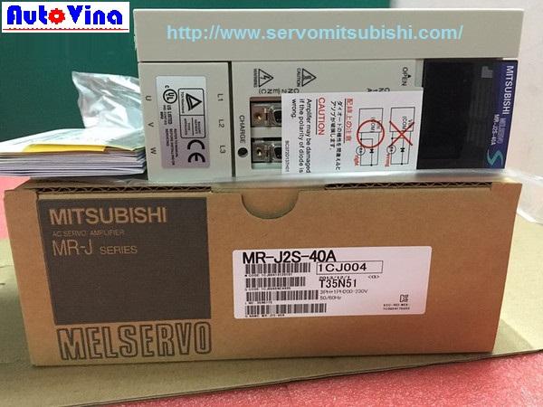 Đại lý bán drive Amplifier MelServo Mitsubishi MR-J2S-40A công suất 400W, Động cơ Servo HC-KFS43 HC-MFS43