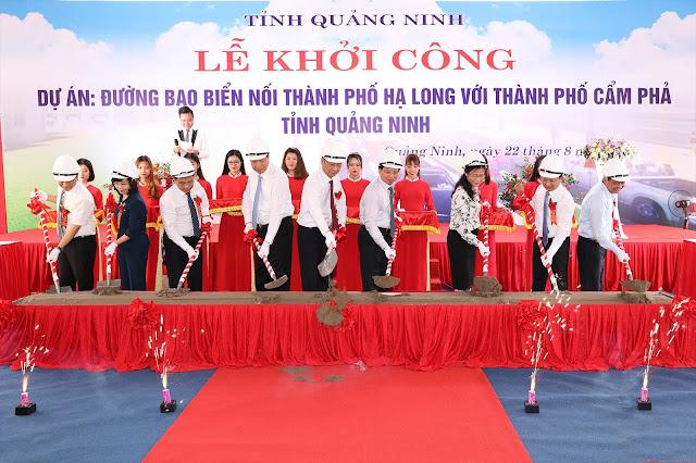 Khởi công dự án đường bao biển 1.300 tỷ đồng ở Quảng Ninh