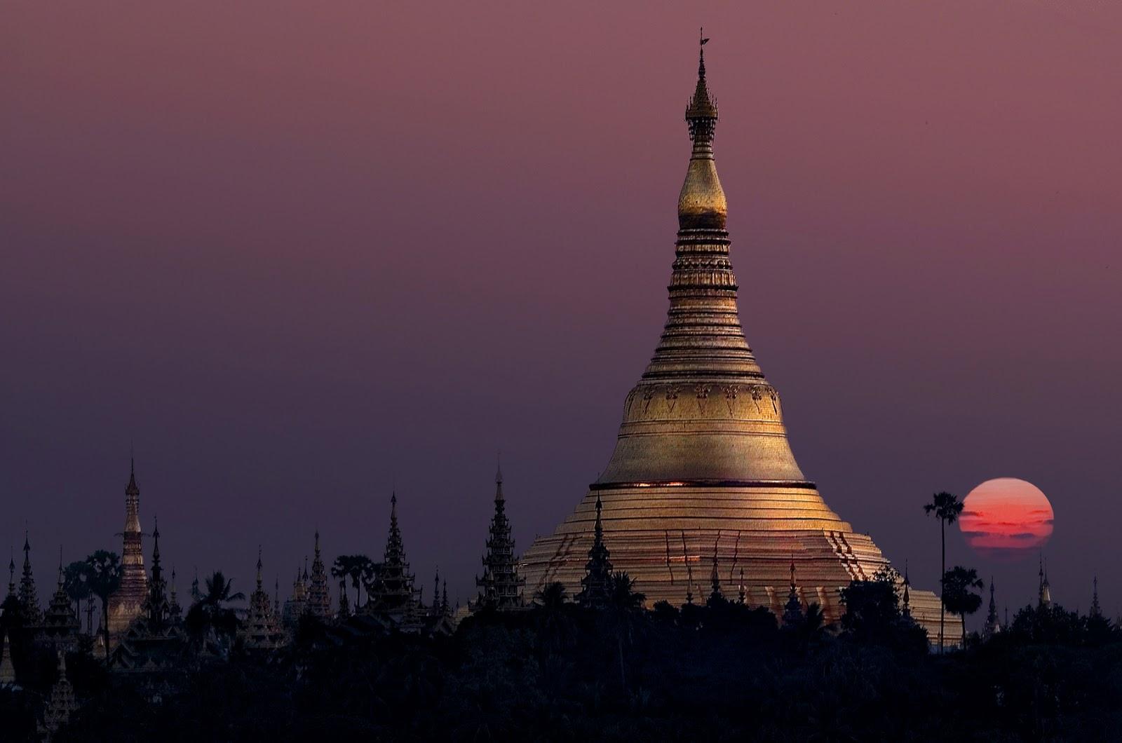 Myanmar-Świątynia Shwedogon