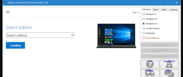 ادوات نسخة Microsoft Windows