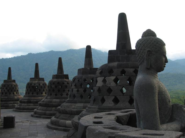 Stupa in Borobudur Temple Indonesia