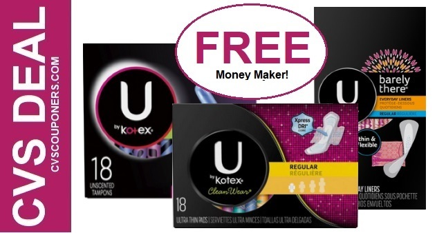 CVS FREE U By Kotex Products 98-914