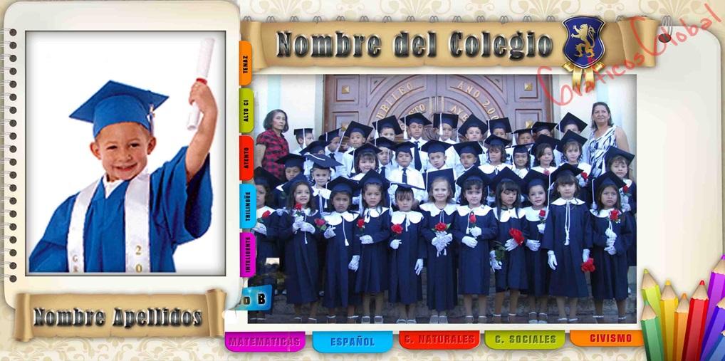 Plantilla Graduación psd Con Estilo Cuaderno