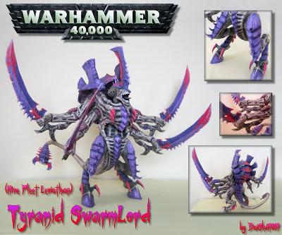 Warhammer 40K Tyranid SwarmLord Papercraft