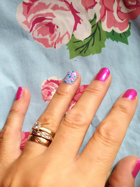 Cath Kidston inspired nails