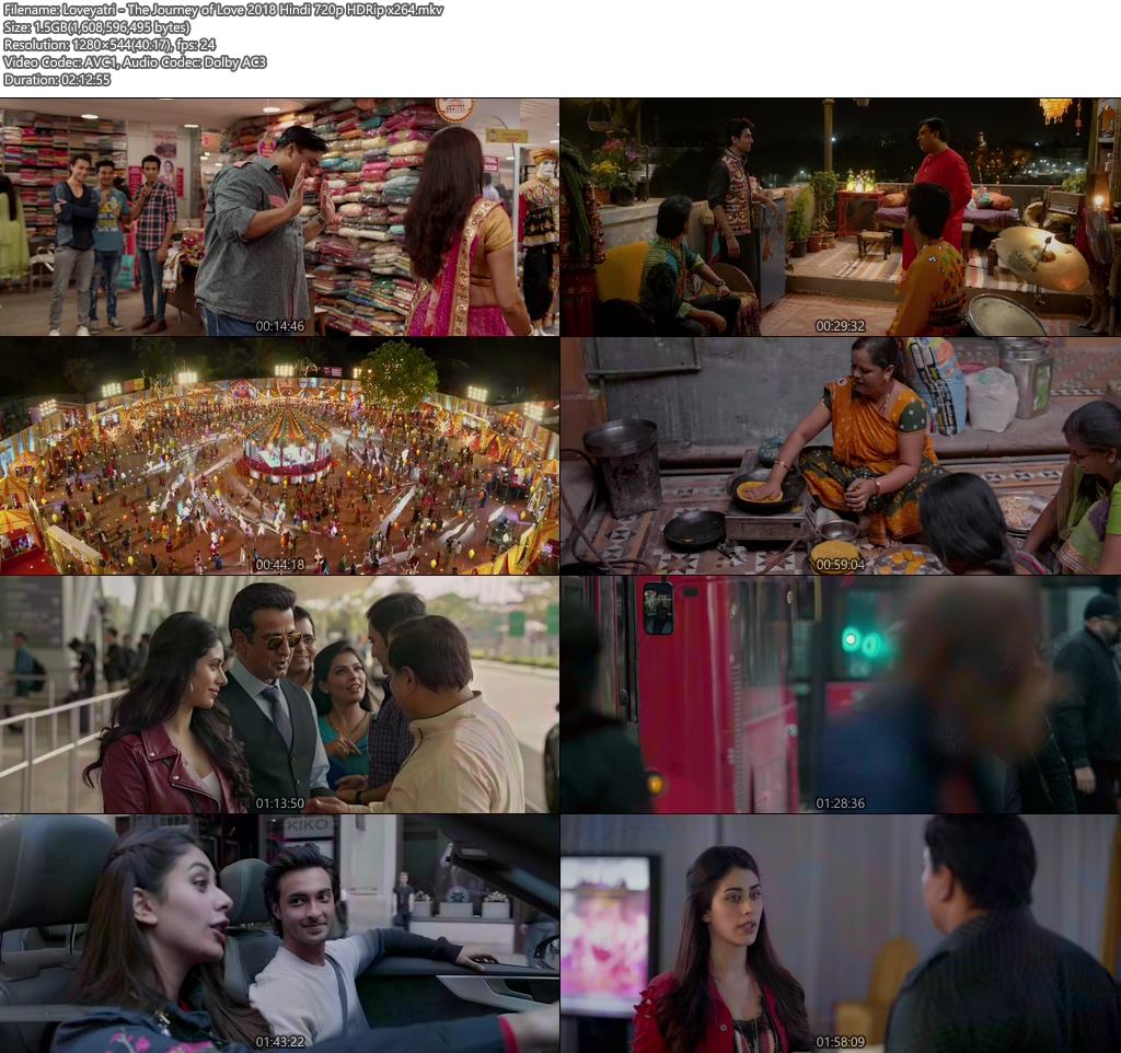 Loveyatri - The Journey of Love 2018 Hindi 720p HDRip x264 | 480p 300MB | 100MB HEVC Screenshot