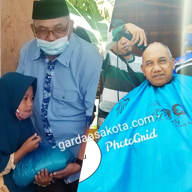 Syukuri Pemecatan Marzuki Alie Cs, Demokrat NTB Santuni 100 Anak Yatim dan Gunduli Kepala