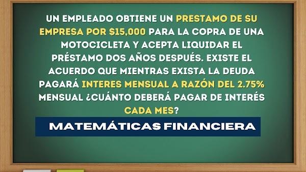 Matemáticas financieras EJERCICIOS RESUELTOS de interés simple N°4