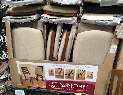 Costco 899431 - Stakmore Wood Folding Chair with Upholstered Seat - classic and not cheap looking