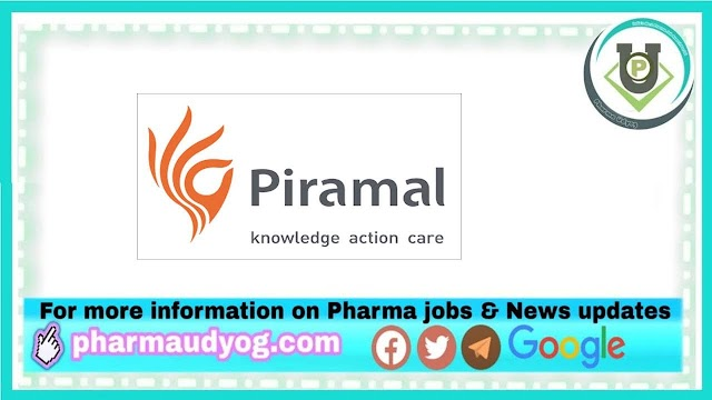 Piramal Pharma | Walk-in interview for QC on 24th to 26th Dec 2020