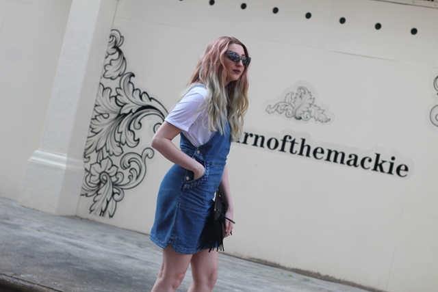 how to style the denim dress blog