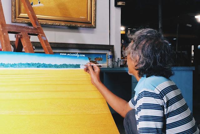 pelukis di pasar seni ancol