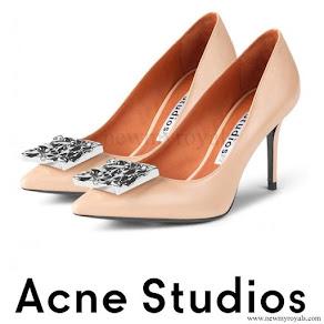 Crown Princess Victoria wore Acne Studios Andrea Dusty Pink Pumps