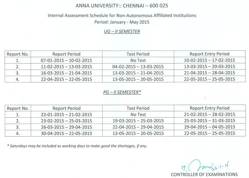 ... Anna University Revaluation Results 2017: UG PG Nov/Dec 2016 Jan 2017