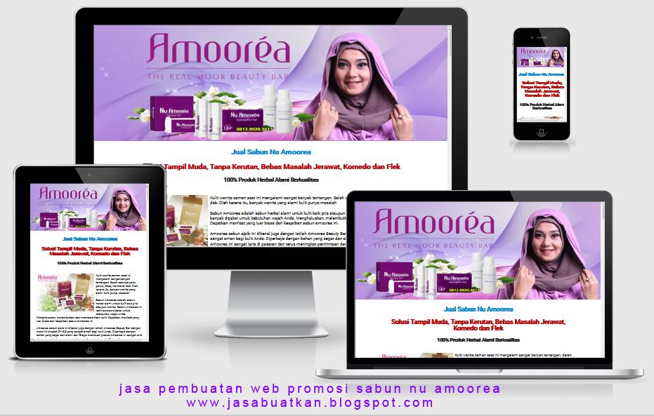 Jasa blog website situs promosi sabun nu amoorea