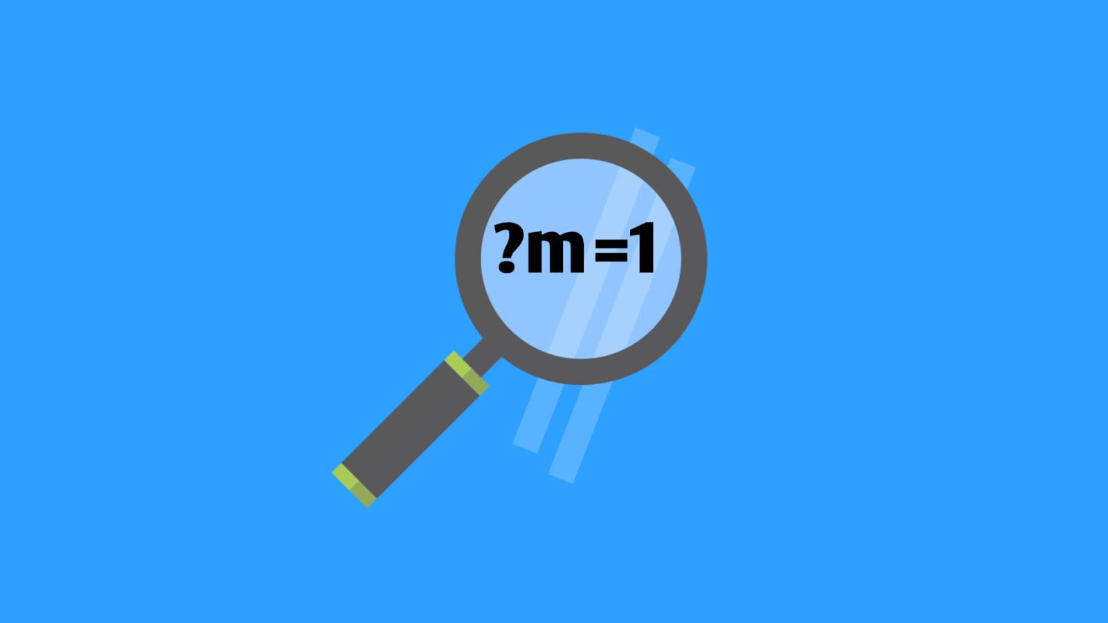 Menghilangkan URL ?M=1 Pada Tampilan Mobile