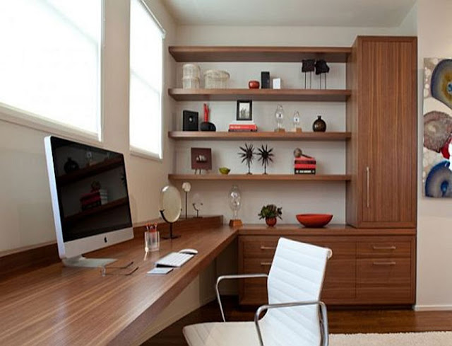 best custom modern home office furniture Vancouver WA with file cabinet