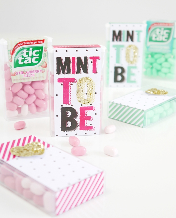 Tic Tac® DIY Minto To Be Wedding Favor Idea with Free Printables - BirdsParty.com