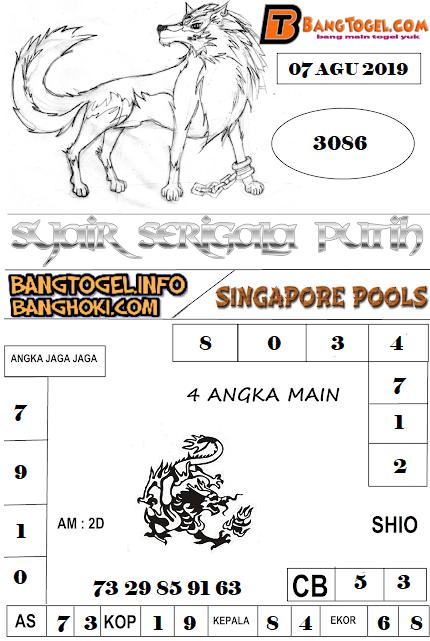 PREDIKSI TOGEL SINGAPOREPOOLS 07 AGUSTUS 2019