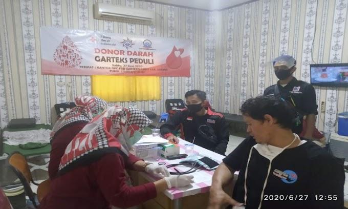 Peduli Kondisi Pandemi Covid-19, DPC FSB Garteks KSBSI Serang Gelar Aksi Donor Darah