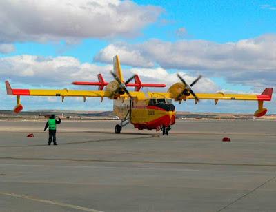 Un nuevo hidroavion para el incendio forestal de Gran Canaria