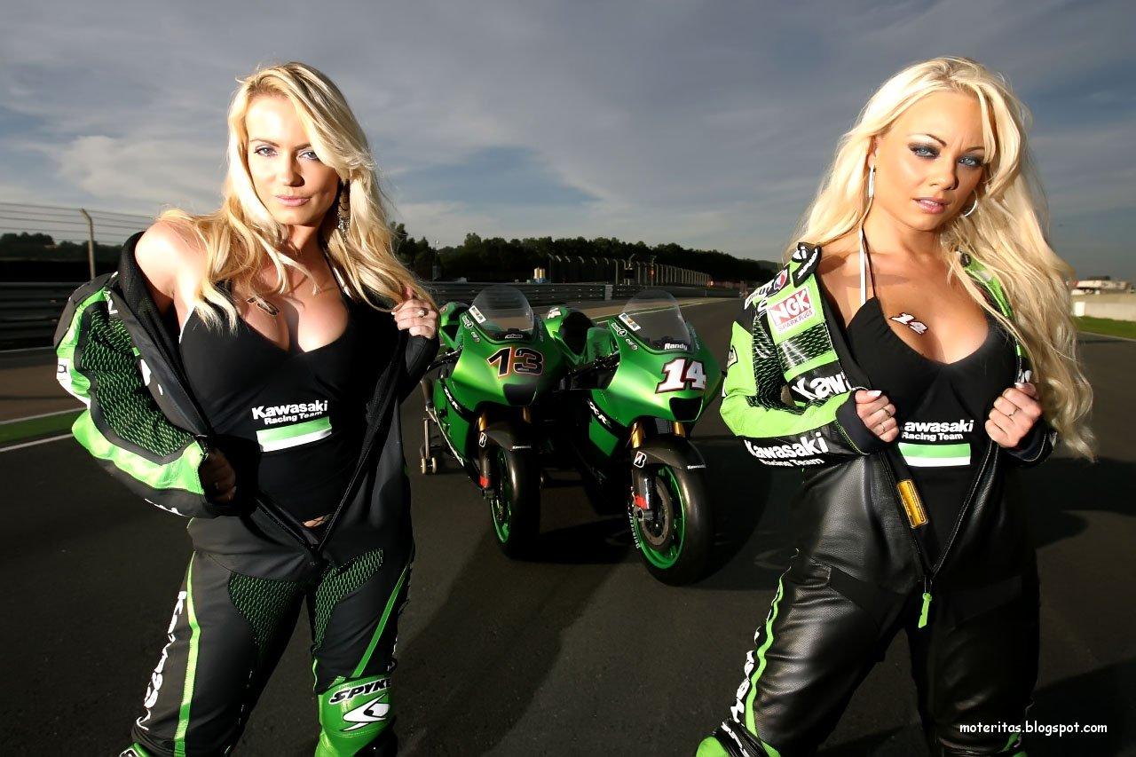 Motos Pisteras Ninja Hd 1280x1024: Motos Y Mujeres Resolución HD: Kawasaki Ninja, Rápidas Y