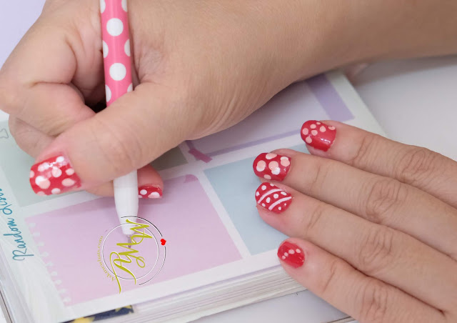 a photo of How to do dots nail art design