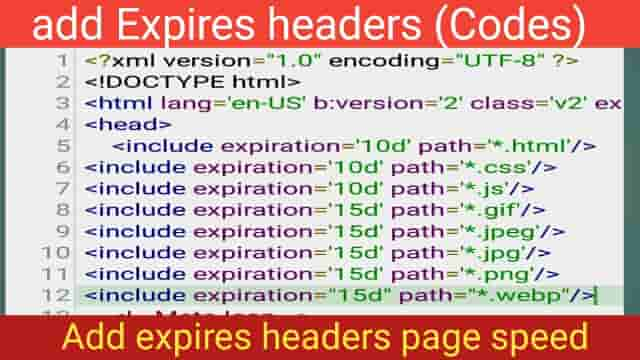 add Expires headers in Blogger